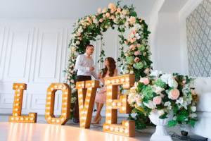 Объемные буквы для свадеб и фотосессий