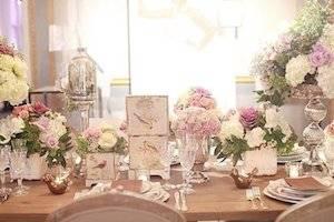 Оформение зала на свадьбу в стиле Шебби-шик